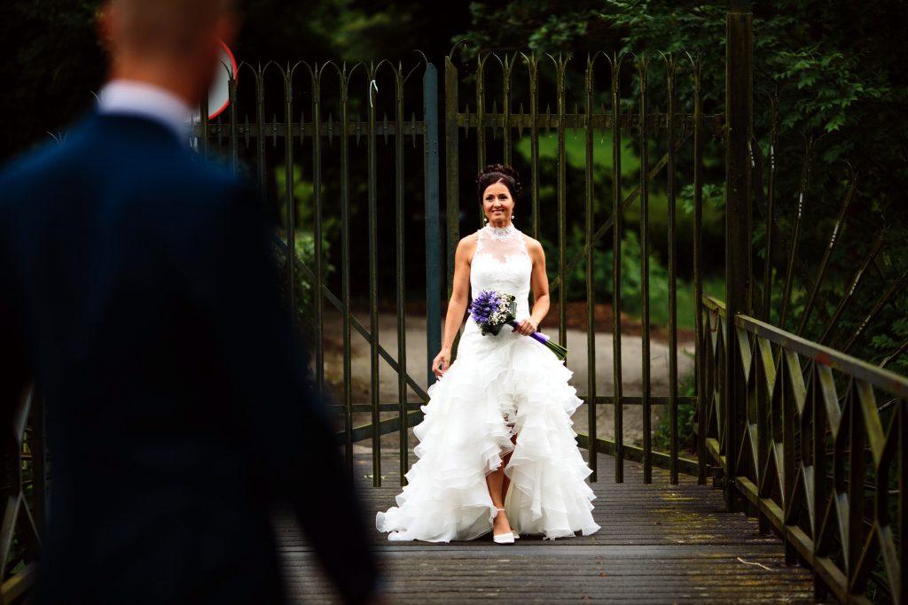 bruid Suzan trouwjurk