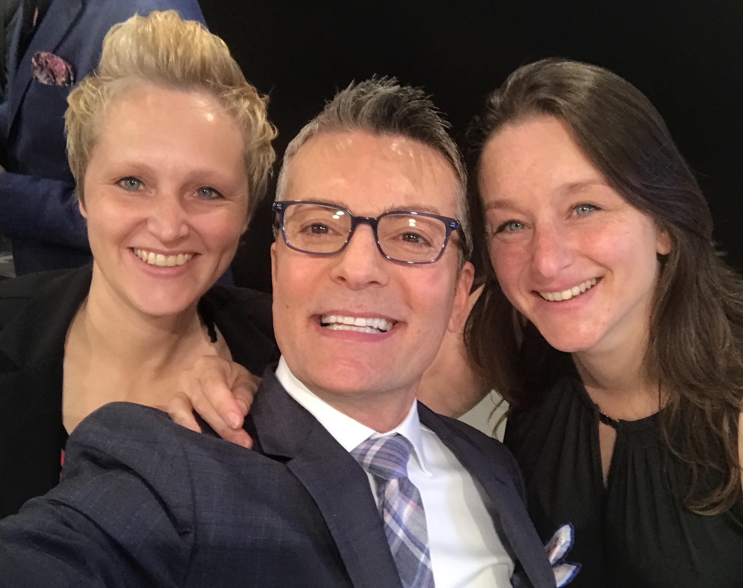 Randy Fenoli met de zussen Rian en Jannie van New Styling Bruidsmode