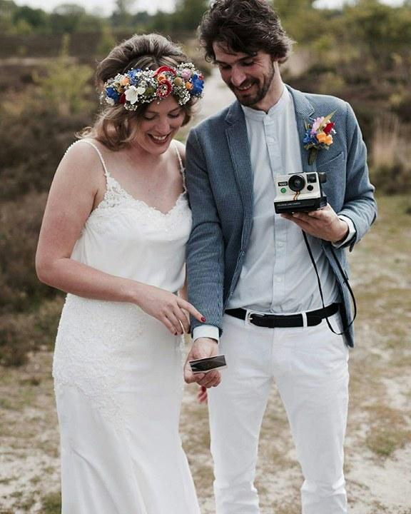 Trouwjurk Marin in bohemian bruidsjurk