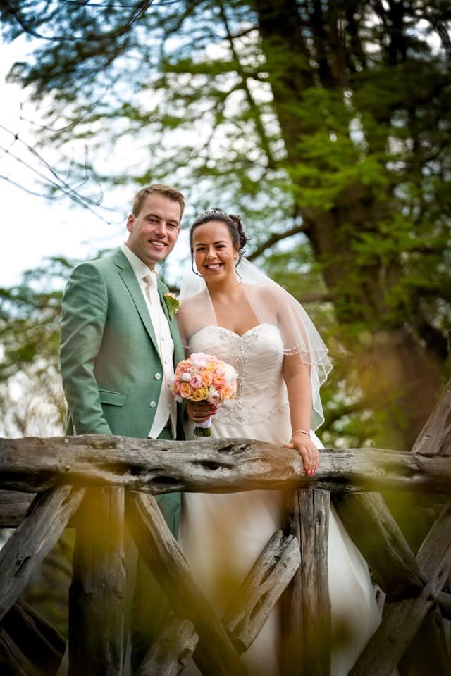 Bruidsjurk bruid Janny trouwjurk