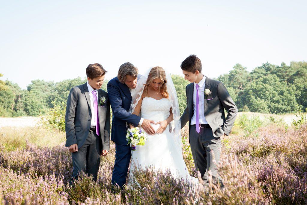 Mieke als bruid op haar bohemian trouwdag!