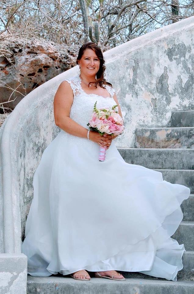 Trouwjurk Maggie Sottero bruid samantha
