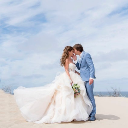 Trouwjurk Randy Fenoli bruid Valerie